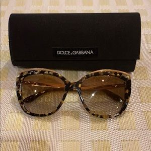 Dolce & Gabbana Cat Eye Gradient Sunglasses
